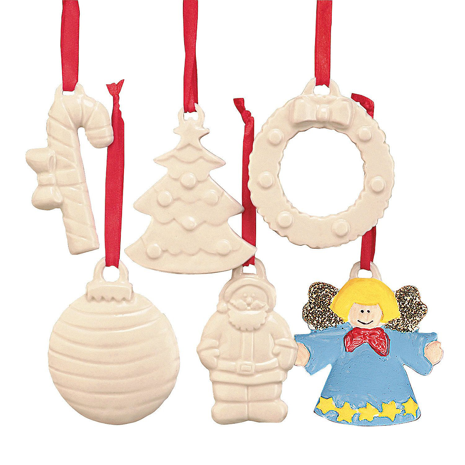 diy ceramic patterned holiday ornaments orientaltradingcom