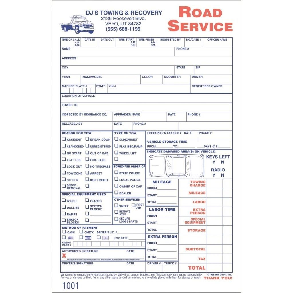 Towing Service Invoice Towing Service Invoice Invoic Invoices For