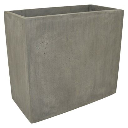 Threshold Rectangular Ficonstone Planter From Target 39 99 Give Your Patio A Modern Edge With The Floor