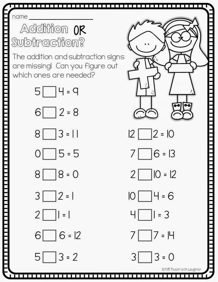 Teach With Laughter Add or Subtract? Matemáticas de