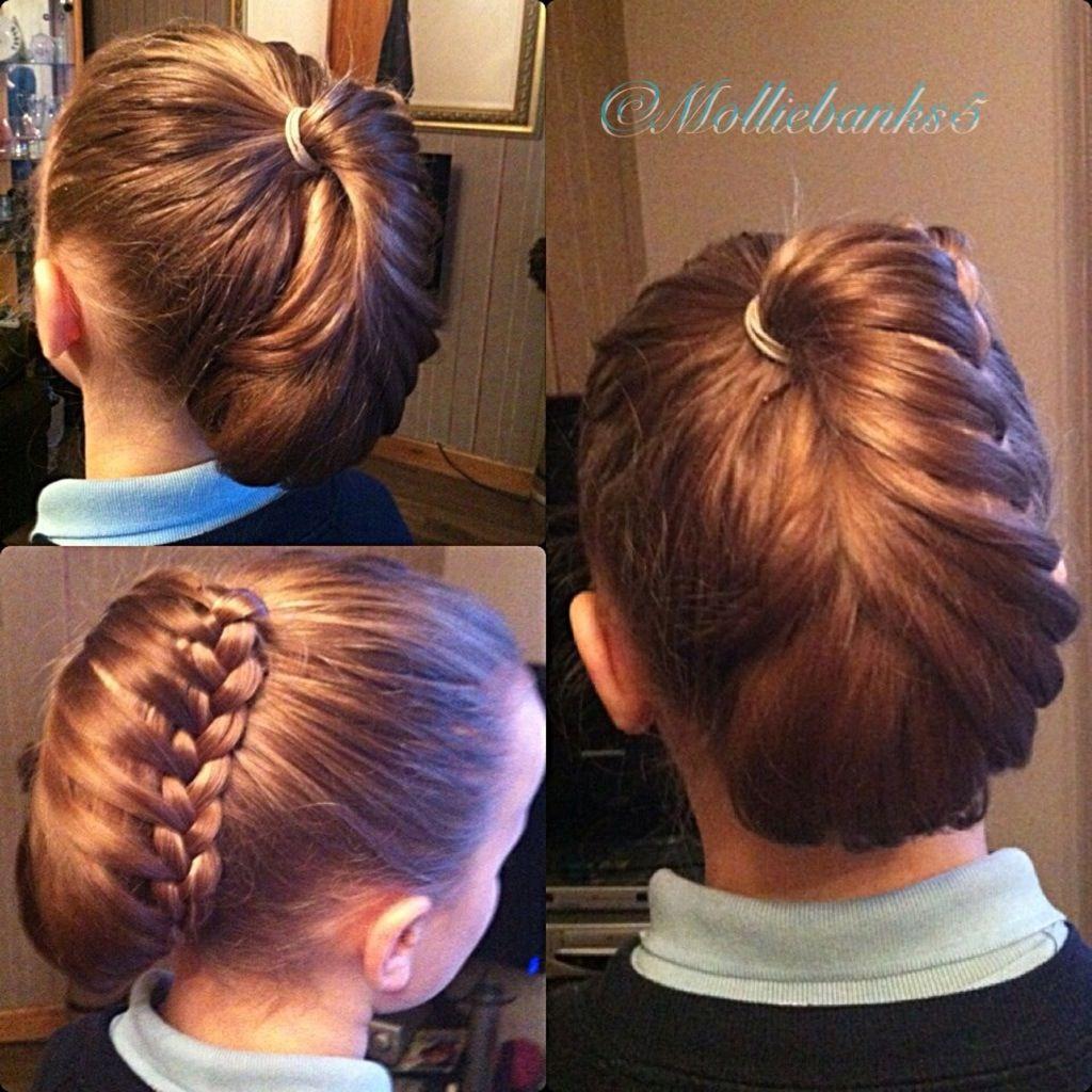 kids short hairstyles : Lacebraided ponytail updo Kids hair styles Pinterest