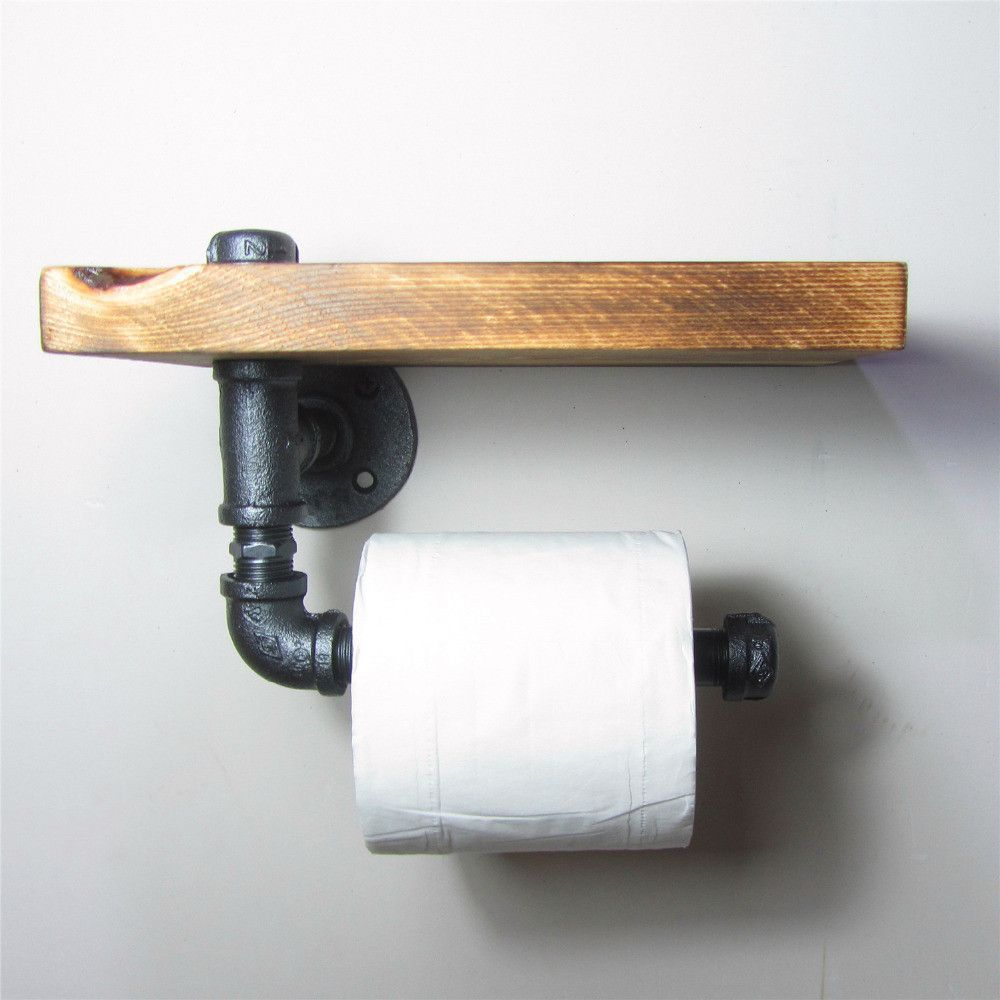 Industrial Urban Iron Pipe Toilet Roll Holder Products