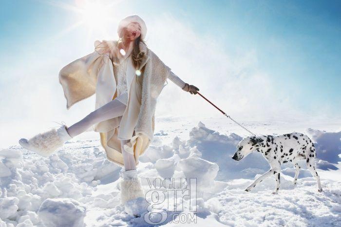 설원으로 떠난 소녀, Vogue Girl 한국, 2013년 1월 (Sliding Over The Snow, Vogue Girl Korea, January 2013)