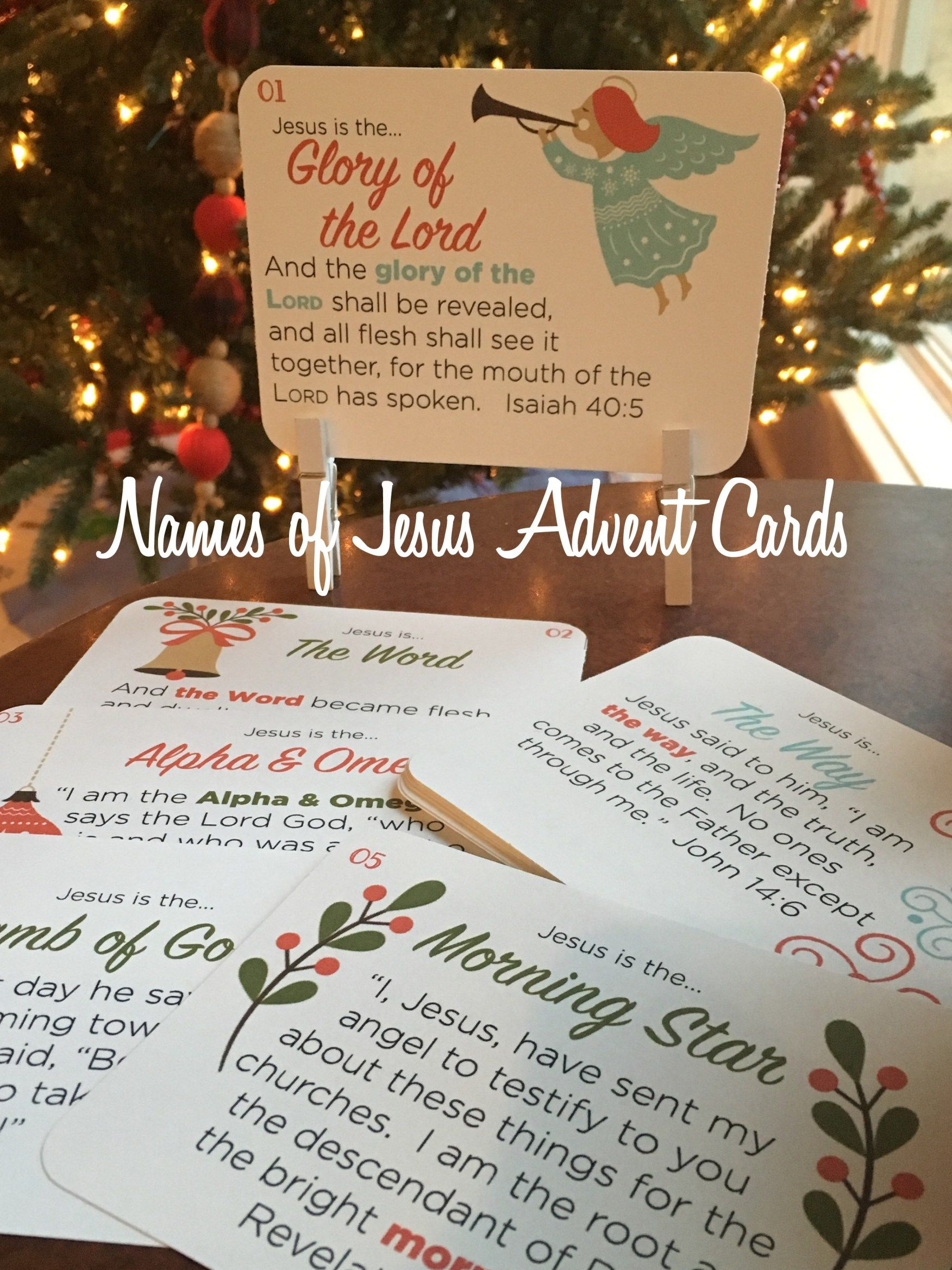 names of jesus advent Names of jesus, Christmas jesus