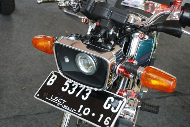 modifikasi lampu depan motor rx king terkeren