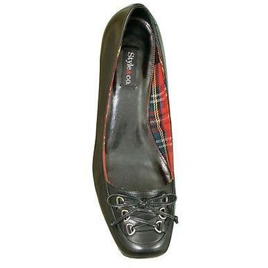 Style &Amp;Amp; Co Sarra Kitten Heel Loafer Womens Shoes Black Size 6.5