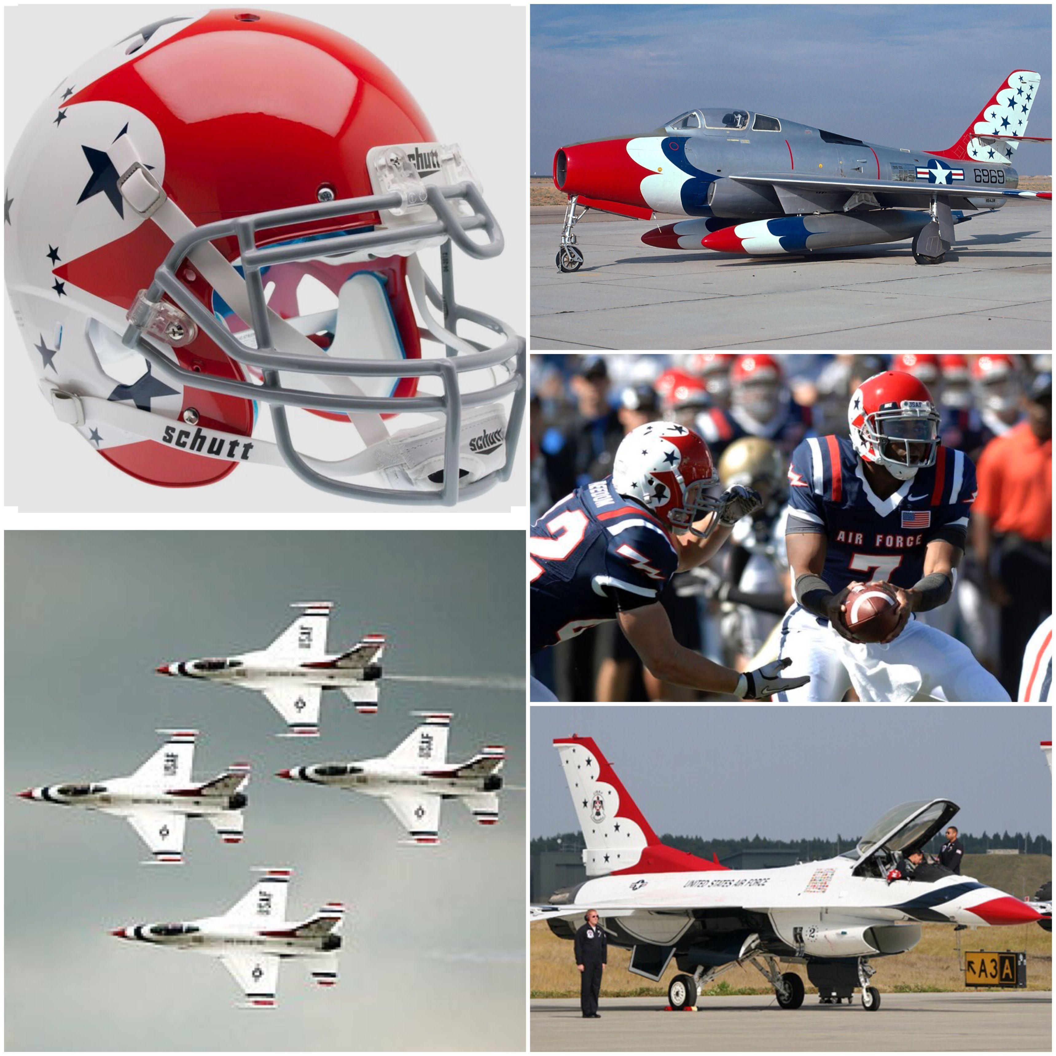Air Force Football helmet USAF Thunderbirds Football