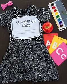 SHOP  SMALL  Back to school outfit girls dress first day of school abc cute girls school girl school picture day embroidered personalized 1st day of school kindergarten first day of 1st grade elementary school #firstdayofschooloutfits