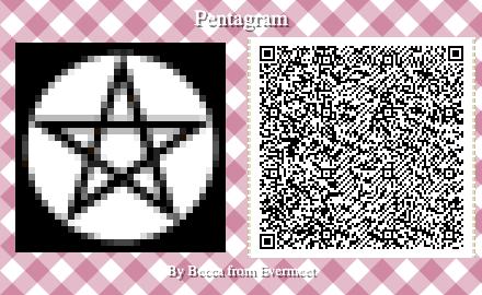 Pentagram Qr Code In 2020 Animal Crossing Qr Animal Games