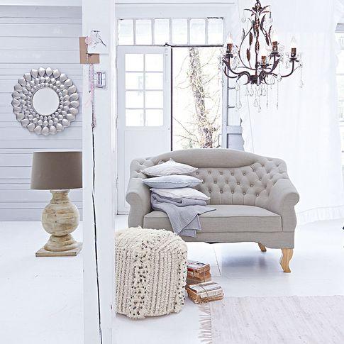 Maravilla Möbel pouf in offwhite maravilla bei impressionen möbel furniture