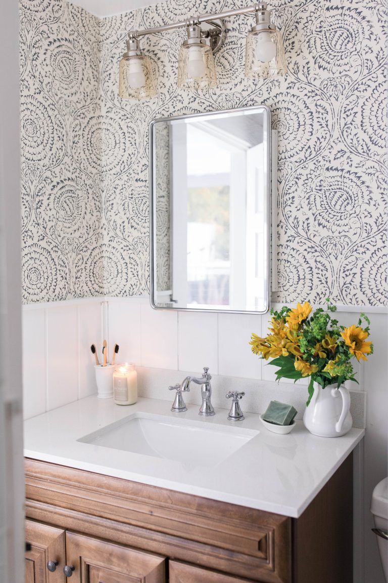 Modern Farmhouse Style Bathroom Makeover Reveal Modern