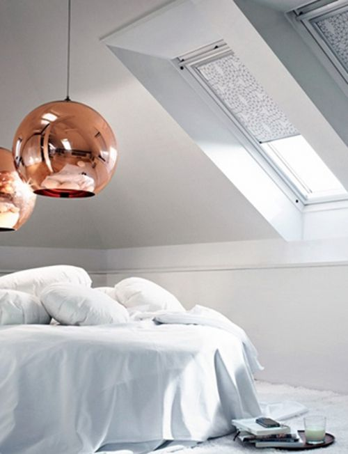 Tom Dixon Presents Mini Copper Shade Small Bedroom Designs Bedroom Design Scandinavian Style Home