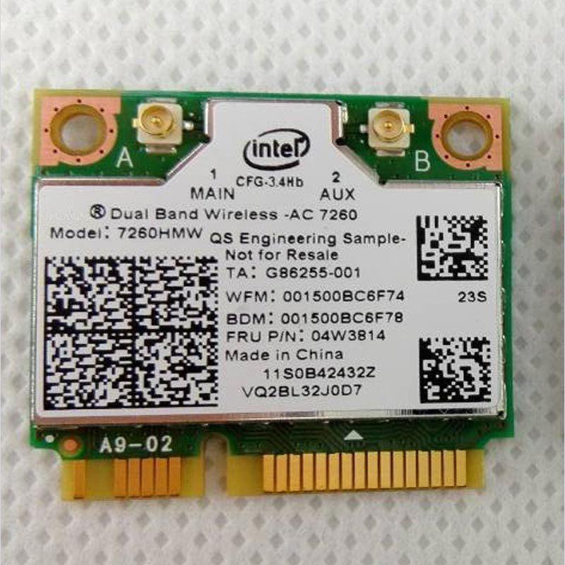 New card for Intel Dual Band Wireless-ac 7260 7260hmw 802 11ac wifi