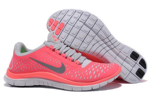 Nike Free 3.0 V4 Women's Hot Punch Reflectiv Silver-White Running Shoes