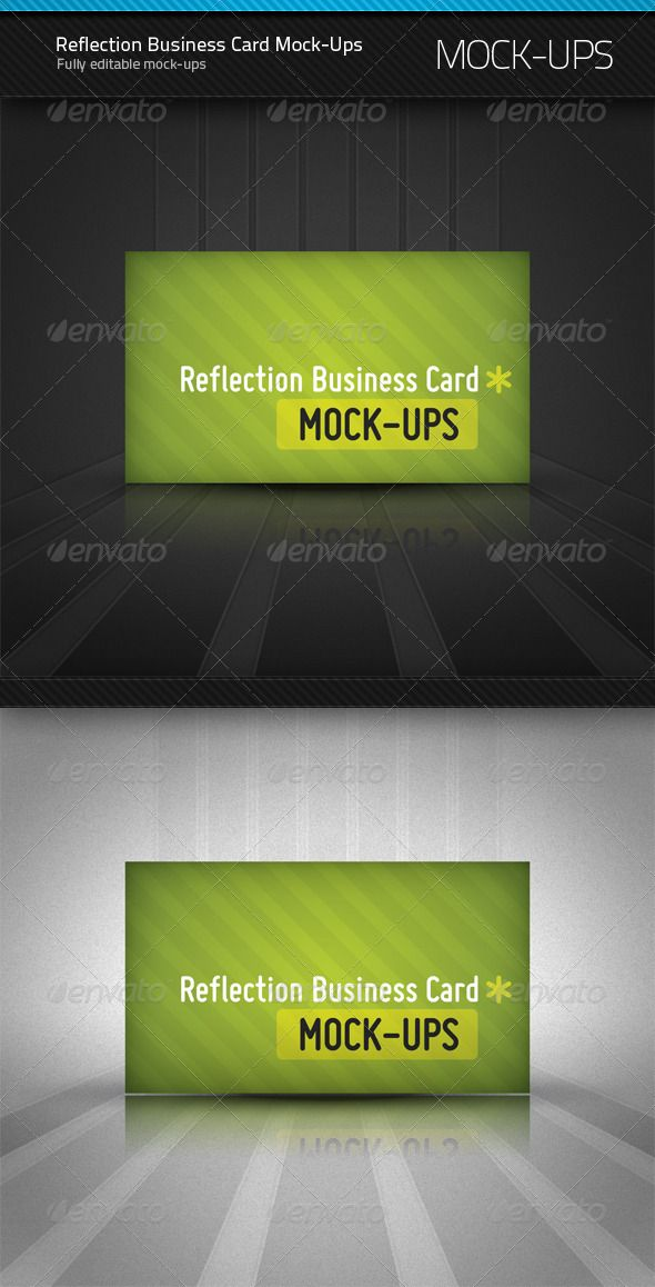 Reflection Business Card Mock Ups Size Of Business Card 3 5x2
