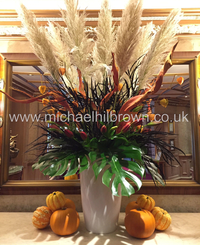 Hotel Halloween Flower Arrangement By Essex Hertfordshire And London Florist Michael Hilbrown