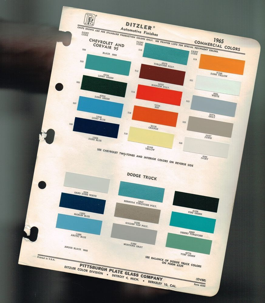 1965 chevy dodge truck color chip paint sample brochure chart 1965 chevy dodge truck color chip paint sample brochure chart pickupcorvair nvjuhfo Images