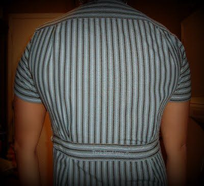 Love: Sewing, Books and more: Mens Button Up Shirt reconstructions. Shirt back.