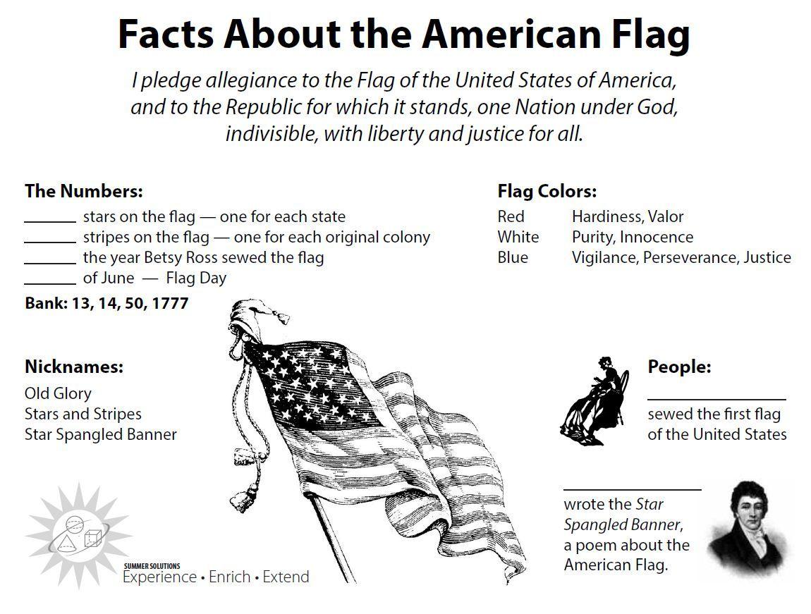 Flag Worksheet Jpg 1150 871 American Flag History American Flag Facts Flag Etiquette