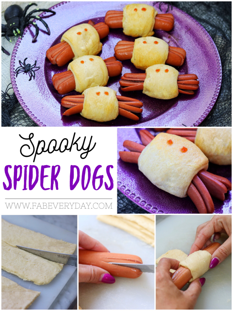 Fun Halloween Recipe for Kids - Spooky Spider Hot Dogs | Fab Everyday, #dogs #everyday #Fab #fun #Halloween #hot #Kids #recipe #Spider #spooky