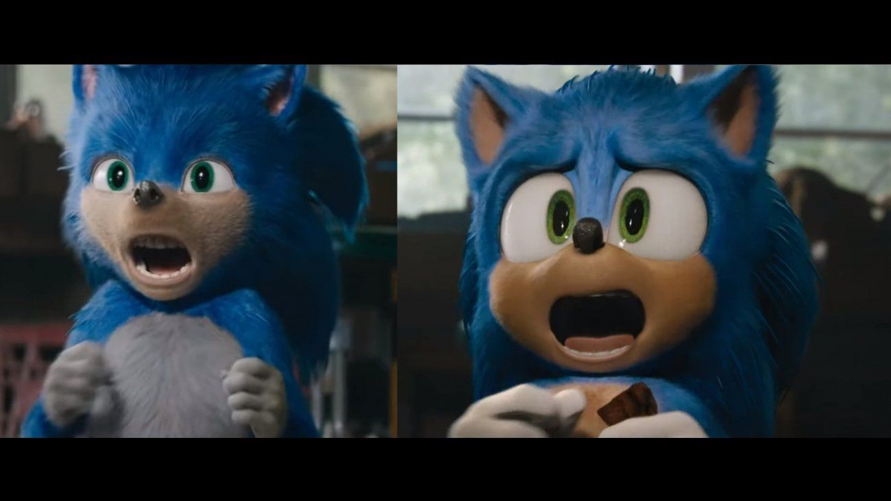 Sonic Gets Major Facelift In New Redesigned Movie Trailer Hedgehog Movie Sonic The Hedgehog Sonic