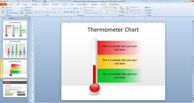 Free Thermometer Chart Powerpoint Template Free Powerpoint Templates