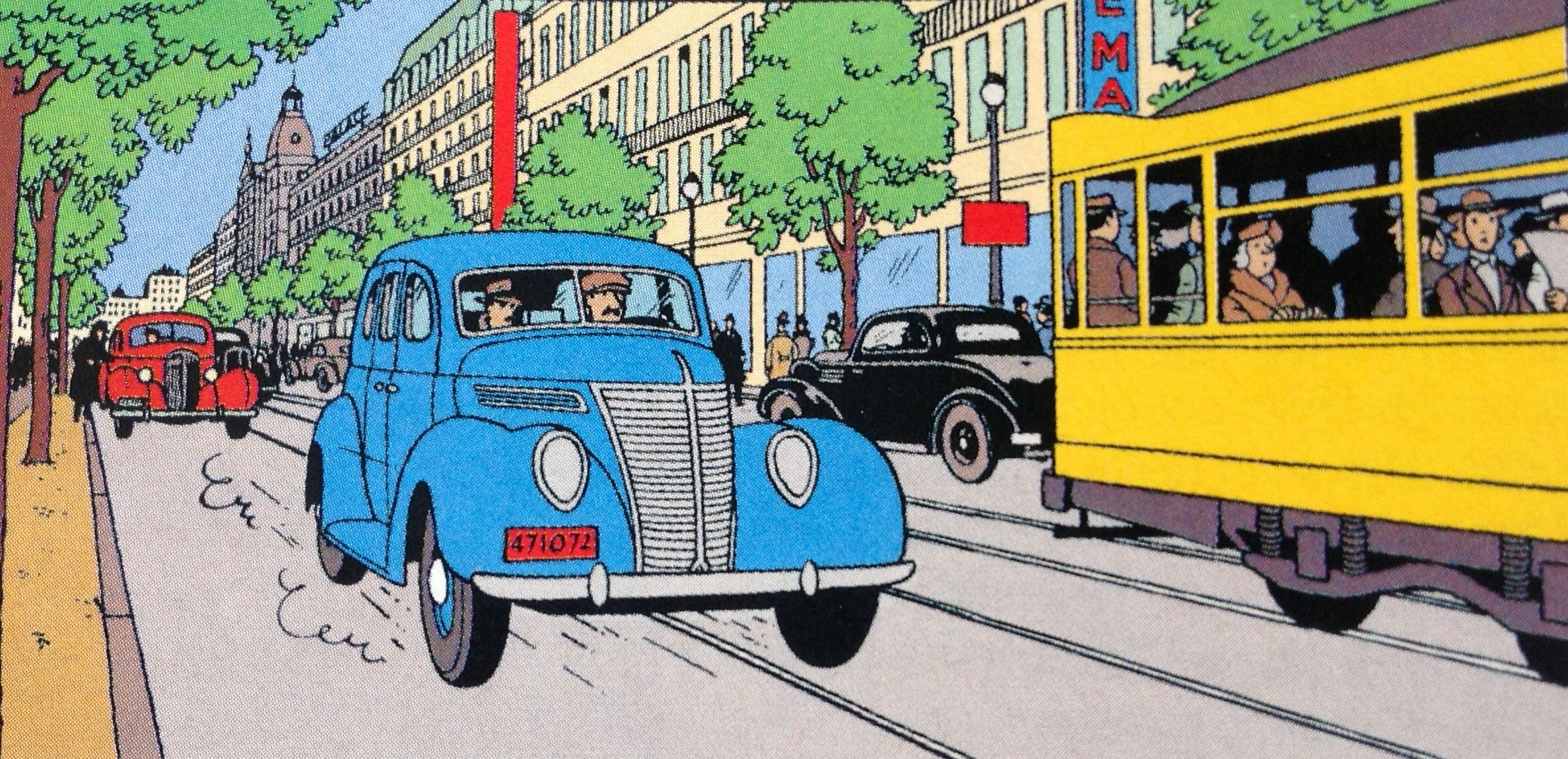 Topmoderne Hergé: The Seven Crystal Balls. This image was used for a famous TK-12
