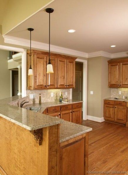 Best Kitchen Cabinets Painted Brown Crown Moldings Ideas # ...
