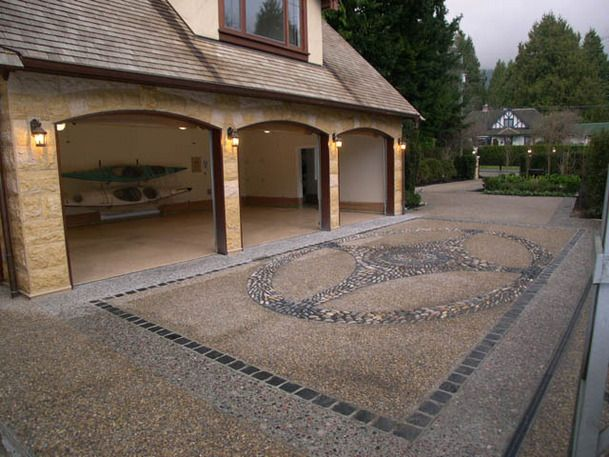Aggregated Driveways And Courtyards Aggregate Concrete Driveways Concrete Driveways Stained Concrete Concrete Patio