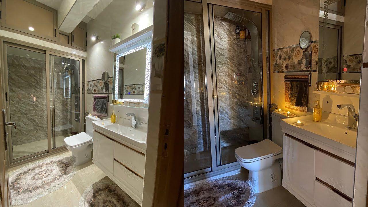 جولة في حمام صغير ومرتب Bathroom Alcove Bathtub Alcove