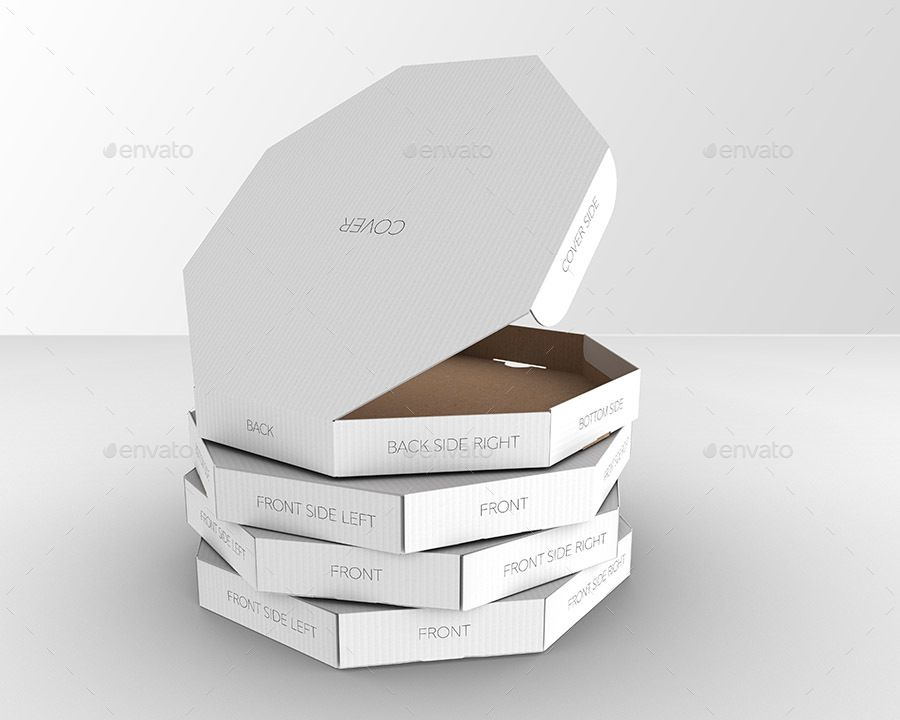 packaging mock up octagon