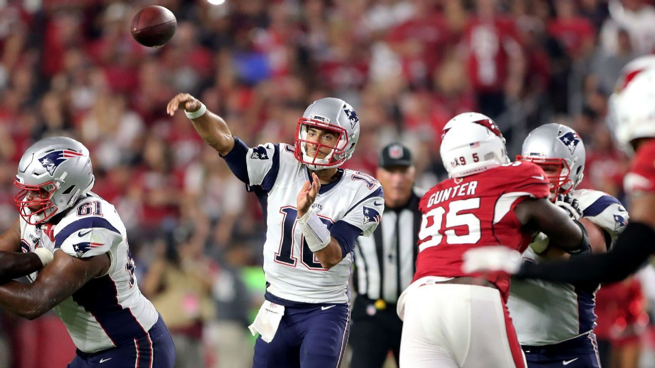 Patriots Didn T Dumb Down Offense For Garoppolo New England Patriots Patriots Sports Today