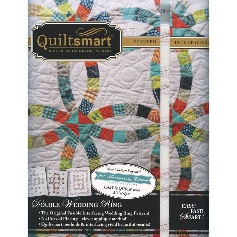 Quiltsmart Double Wedding Ring Pattern With Interfacing Double Wedding Rings Double Wedding Missouri Quilt Company