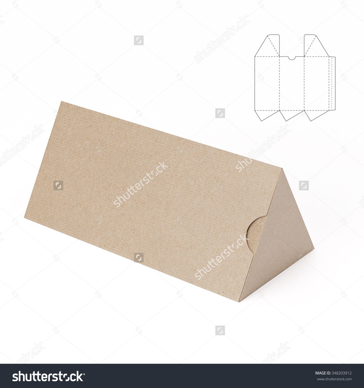 Triangular Tube Box with Die Cut Template | packing | Pinterest