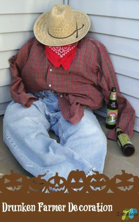 Post image for How to Make a Drunken Farmer for Halloween