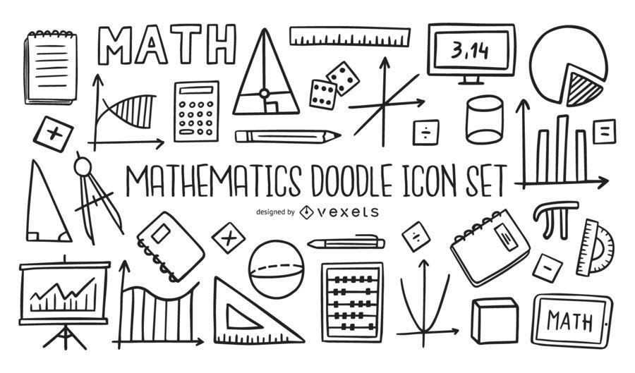 Mathematics Doodle Icon Set Collection Ad Affiliate Ad Doodle Collection Set Mathematics Doodle Icon Math Doodles Doodles