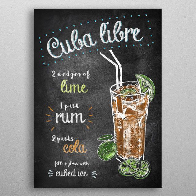 Cuba Libre by Joan Derpp | metal posters #cubalibre