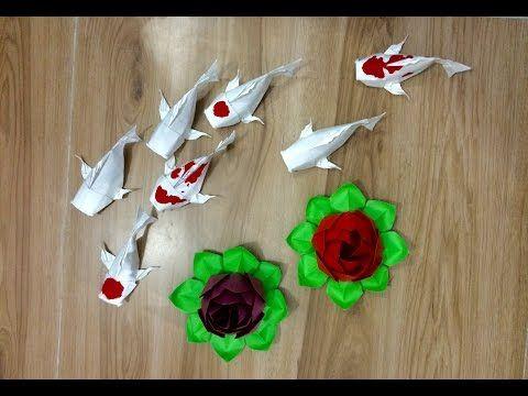 Origami Tutorial: Koi fish | Nguyen Linh Son - YouTube | 360x480