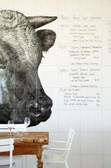 Cafe menu 'board' idea