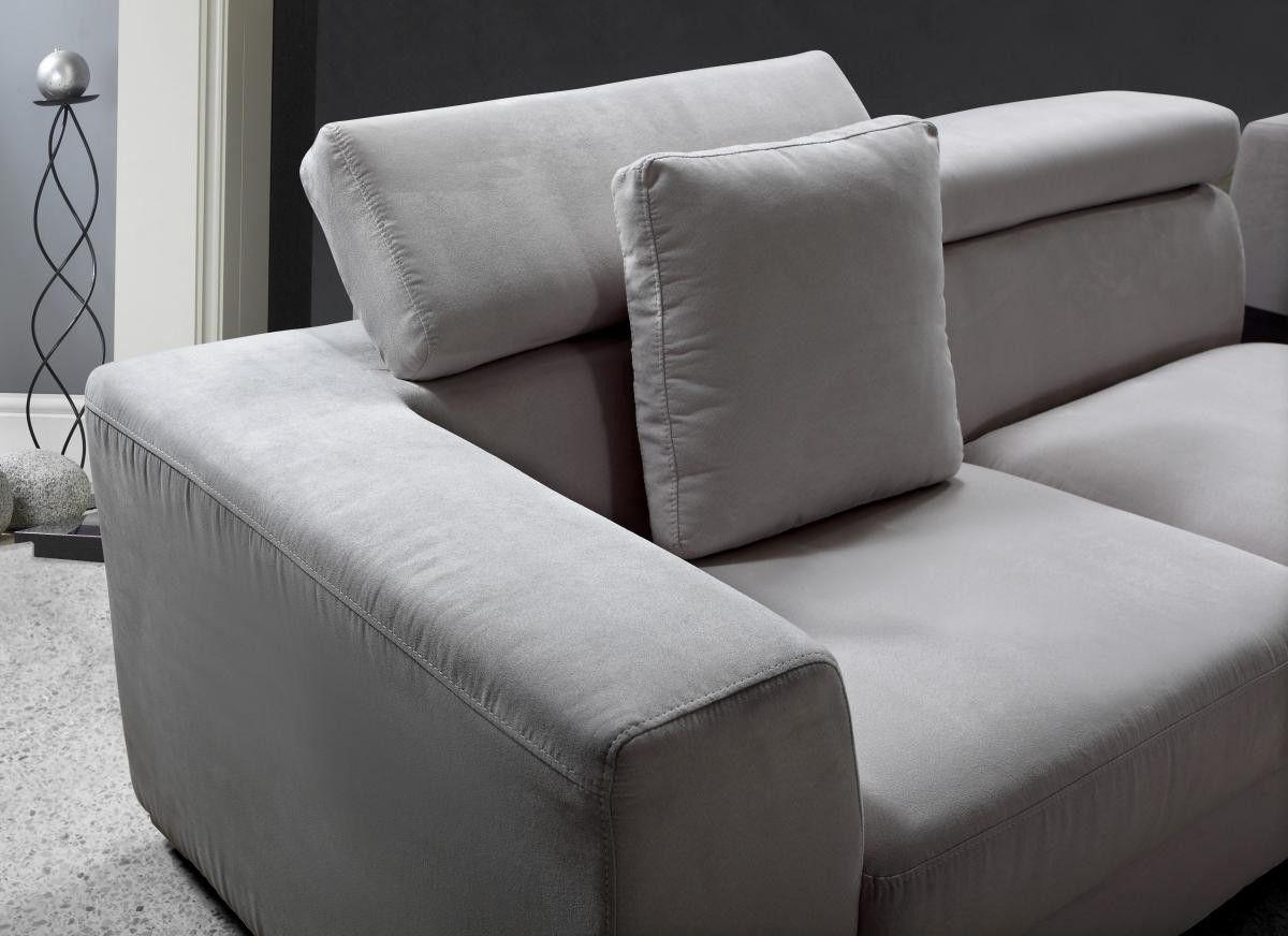 Magnificent Forte Grey Microfiber Modern Sectional Interior Theyellowbook Wood Chair Design Ideas Theyellowbookinfo