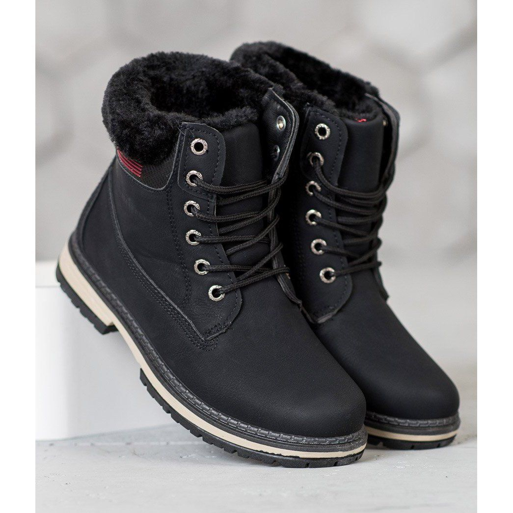 Shelovet Trapery Z Futerkiem Czarne Boots Sorel Winter Boot Timberland Boots
