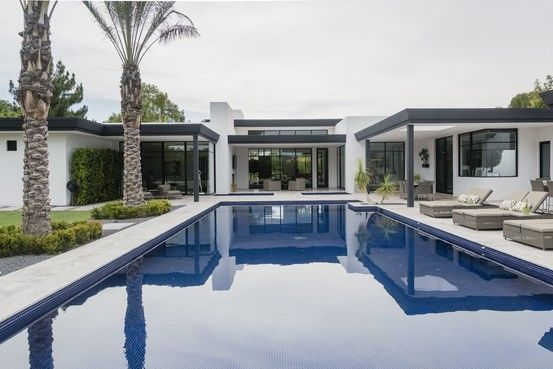 Inside modern ranch-style luxury homes that have wide-open spaces and minimalist design.