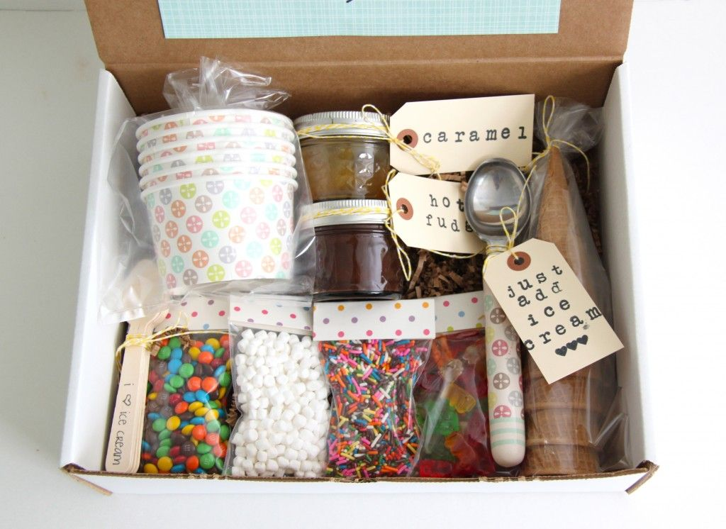 Ice Cream Sundae in a Box Gift Idea Gifts, Secret pal