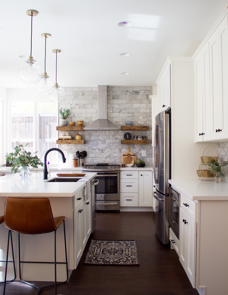 Before After Of A Bright And Airy Kitchen This Kitchen Remodel Is