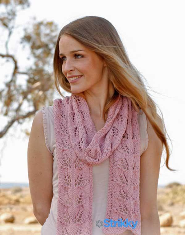 Вязание шарфов для женщин спицами с описанием и схемами