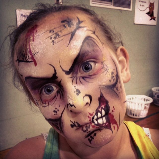 fun zombie would make a cool half face too - Zombie Halloween Faces