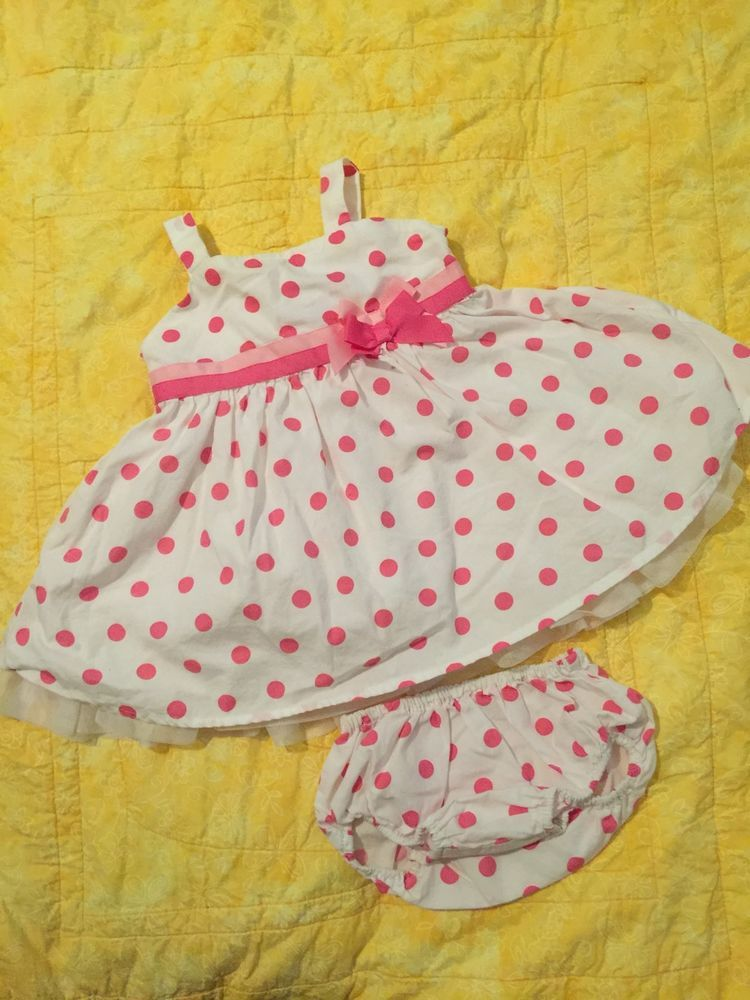 e0e64cfc7186 Baby Girls Dress With Diaper Cover Baby Clothes Childrens Place 6 9 Months  EUC