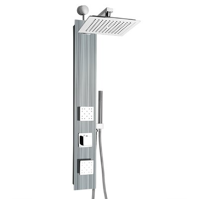 Akdy Rainfall 32 8 Shower Panel With Adjustable Shower Head