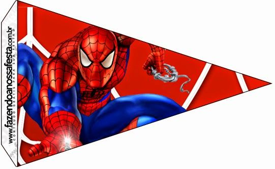 Spiderman Free Party Printables and Images banderines