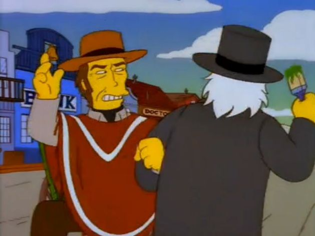 All Singing, All Dancing | The simpsons show, Clint, Lee marvin